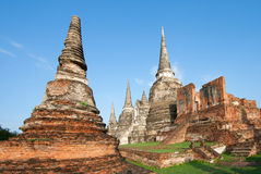 Pagoda на Ayutthaya Стоковое Фото