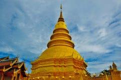 pagoda Таиланд золота Стоковое фото RF