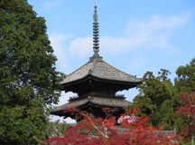 Pagoda. Of a japanese buddhist temple in Kyoto stock image