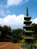 Pagoda. Asian Pagoda against cloudy Sky Royalty Free Stock Image