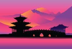 китайский pagoda Стоковое Изображение
