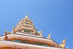Pagoda. Asian style ,in temple of thailand Royalty Free Stock Photos
