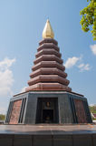 Pagoda. In a temple in Thailand Royalty Free Stock Images