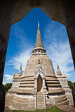 Pagoda. Thai temple located in Ayutthaya province,Thailand Royalty Free Stock Photos