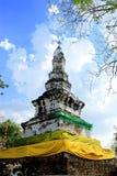 Pagoda. Thousand cloth beneath their wood Royalty Free Stock Photography