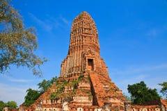 Pagoda. In thai temple at Ayuttaya stock photography