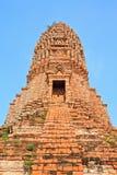 Pagoda. In thai temple at Ayuttaya royalty free stock image