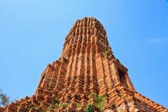 Pagoda. In thai temple at Ayuttaya stock image