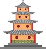 Pagoda. Illustration of a four story tiered pagoda in the traditional oriental style Stock Images