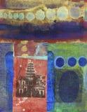 Pagoda abstracta Imágenes de archivo libres de regalías