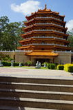 Pagoda ad un tempio buddista Fotografie Stock