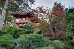 Pagoda al giardino giapponese Immagini Stock