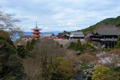 Pagoda al tempio di Kiyomizu-dera Fotografia Stock