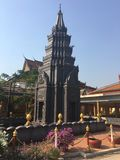 Pagoda al tempio di Wat Preah Prom Rath in Siem Reap, Cambogia immagine stock libera da diritti