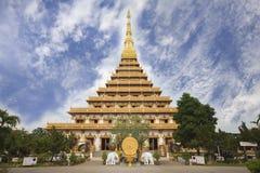 Pagoda al tempio tailandese a Khon Kaen Tailandia Fotografie Stock Libere da Diritti