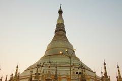 Pagoda all'alba, Rangoon, Myanmar di Shwedagon Fotografie Stock Libere da Diritti