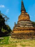 The pagoda. Ancient Pagoda at Ayutthaya Historical Park Stock Photos