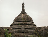 Pagoda in ancient ruins temple in Mrauk-U city royalty free stock images