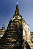 Pagoda and ancient temple in ayutthaia, thailand Royalty Free Stock Image