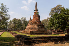 Pagoda. Ancient temples , Kamphaeng Phet Royalty Free Stock Photo
