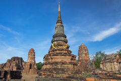 Pagoda. Ancient pagoda in Thai temple royalty free stock photo