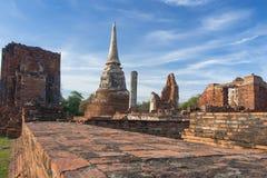 Pagoda. Ancient pagoda in Thai temple stock image