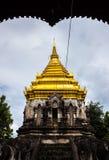 Pagoda. Ancient pagoda at Wat Chiang Man , Chaing Mai ,Thailand Royalty Free Stock Photo