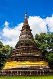 Pagoda. Ancient pagoda is 700 year old at watumong ,  Chaing mai,Thailand Stock Photo