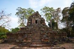 Pagoda in Angkor wat. Collapsed pagoda in Angkor wat Royalty Free Stock Images