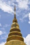 Pagoda antica di stile tailandese di Lanna fotografia stock