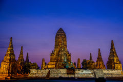 Pagoda antica nella penombra Fotografia Stock Libera da Diritti