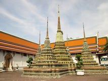 Pagoda antico o Chedi a Wat Pho, Tailandia Fotografie Stock Libere da Diritti