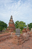 Pagoda antico in vecchio tempiale rovinato Fotografia Stock