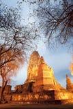 Pagoda antigua Ayuttaya Tailandia fotografía de archivo