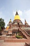 Pagoda antigua en el parque histórico de Ayutthaya Imagen de archivo libre de regalías