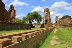 Pagoda antigua y ruinas Foto de archivo