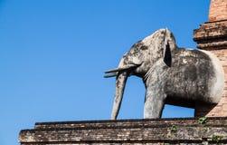 Pagoda antique de temple de luang de Chedi dans le chiangmai Photographie stock