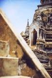 Pagoda antique sur le temple de Phrasisanpeth à ayutthaya p historique Photo libre de droits