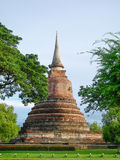 Pagoda architecture of northern thailand. Old pagoda made ​​of cement in northern Thailand Royalty Free Stock Images