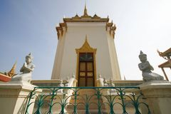 Pagoda argentée de Phnom Penh photographie stock libre de droits