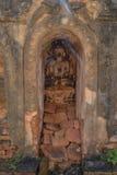 Pagoda arruinada, lago Inle, Fotos de archivo libres de regalías