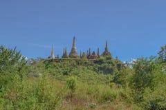 Pagoda arruinada, lago Inle Foto de archivo libre de regalías