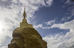 Pagoda asiática en la piedra fotografía de archivo