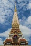 Pagoda av chalongtempelet arkivbilder