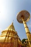 Pagoda av det Doisuthep tempelet i Thailand Arkivfoto