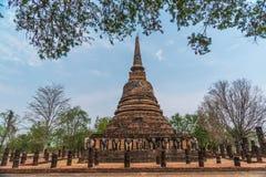Pagoda avec l'éléphant concret Images stock