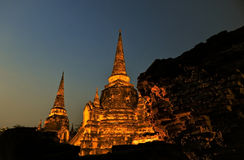 Pagoda@Ayudhya Tailândia foto de stock