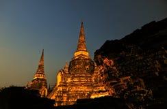 Pagoda@Ayudhya Tailandia fotografia stock
