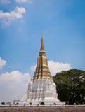 Pagoda in Ayudthaya. Pagoda near a river with the blue sky Royalty Free Stock Image