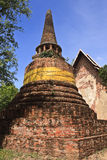 Pagoda in Ayuthaya center of Thialand. Old temple ayuthaya of in thailand royalty free stock photos